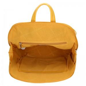Módní dámský batoh David Jones Thala - žlutá