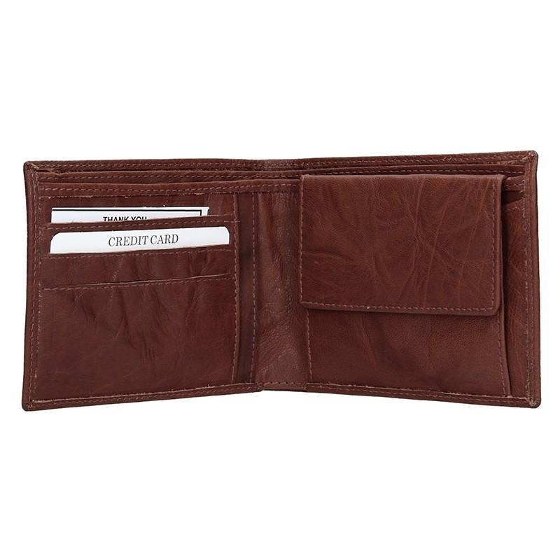 Pánská kožená peněženka SendiDesign SNW6946 - tmavě hnědá