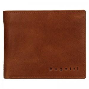 Pánská kožená peněženka Bugatti Michael - koňak