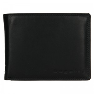 Pánská kožená peněženka Bugatti Manol - černá