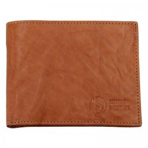 Pánská kožená peněženka SendiDesign SNW6946 - světle hnědá