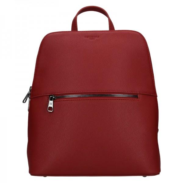 Dámský batoh Hexagona Agate - tmavě červená