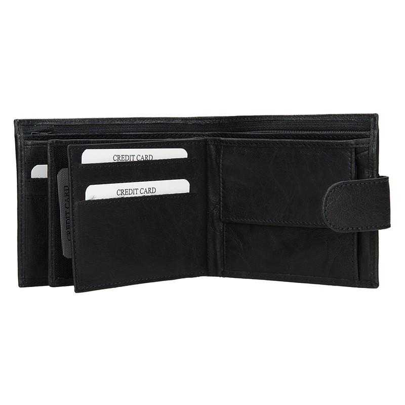 Pánská kožená peněženka SendiDesign SNW6947 - černá