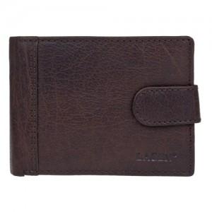 Pánská kožená peněženka Lagen Prean - tmavě hnědá