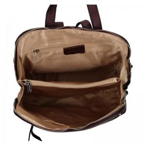 Dámský kožený batoh Katana Adléta - fialová