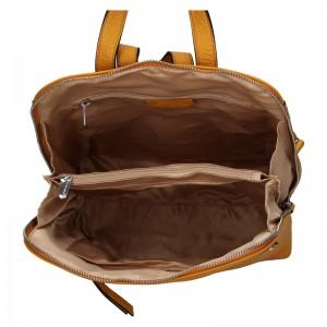 Dámský kožený batoh Katana Adléta - hořčicová