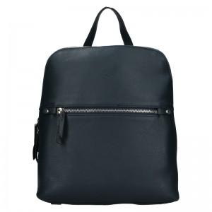 Dámský kožený batoh Katana Adléta - tmavě modrá