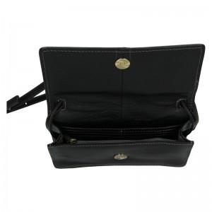 Kožená dámská crosbody kabelka Katana Nicca - černá