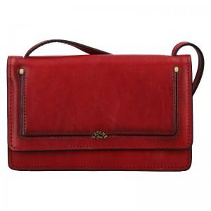 Kožená dámská crosbody kabelka Katana Nicca - tmavě červená