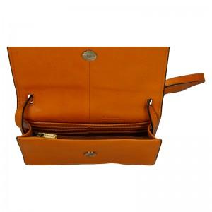 Kožená dámská crosbody kabelka Katana Nicca - oranžovo-hnědá