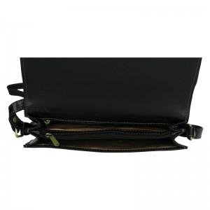 Kožená dámská crosbody kabelka Katana Amande - černá