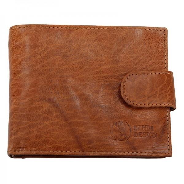 Pánská kožená peněženka SendiDesign SNW6947 - světle hnědá