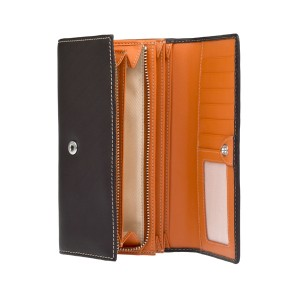 Dámská kožená peněženka Lagen Jiřina - hnědo-oranžová