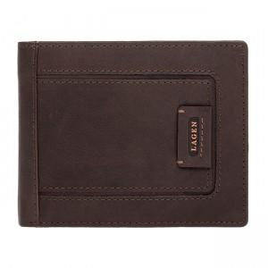 Pánská kožená peněženka Lagen Markus - hnědá