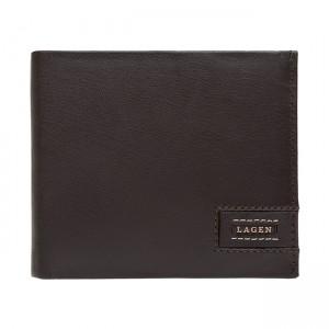 Pánská kožená peněženka Lagen Amadus - černo-béžová