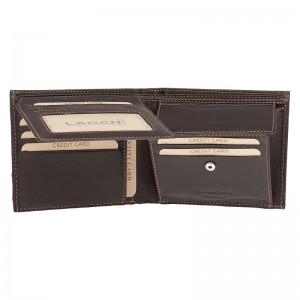 Pánská kožená peněženka Lagen Amadus - hnědo-oranžová