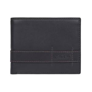 Pánská kožená peněženka Lagen Alcan - tmavě hnědá