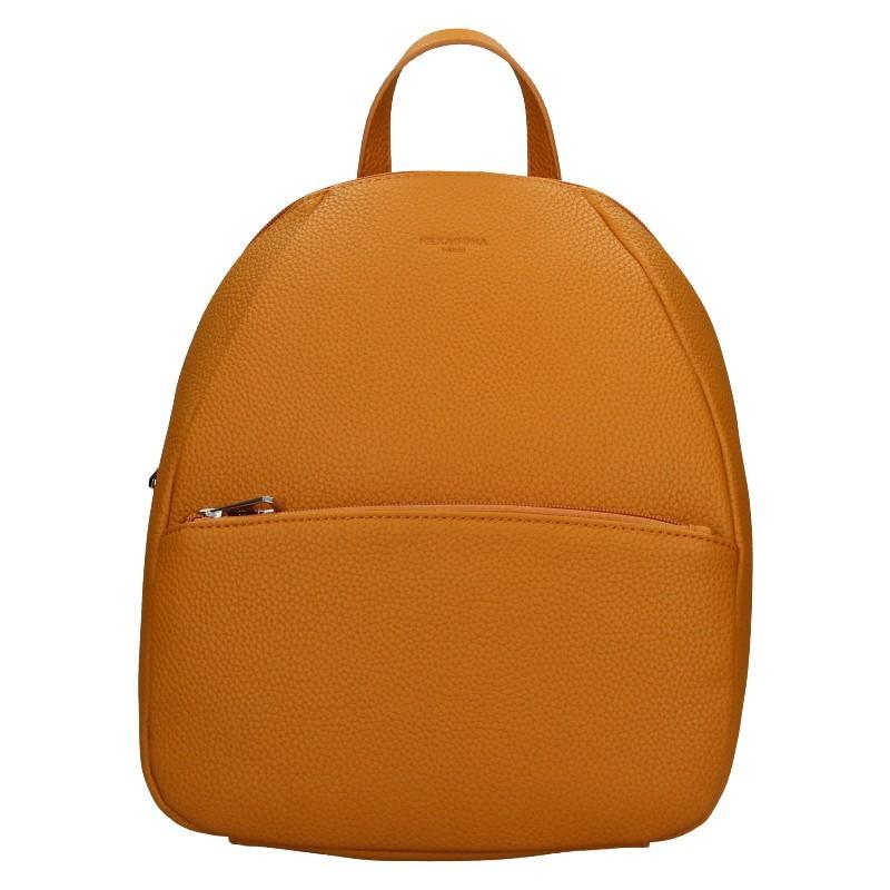 Dámský batoh Hexagona Mona - oranžovo-hnědá