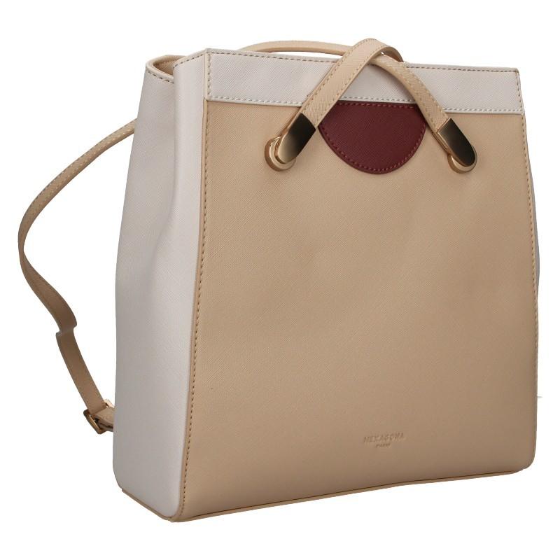 Dámská batůžko-kabelka Hexagona Karol - béžová