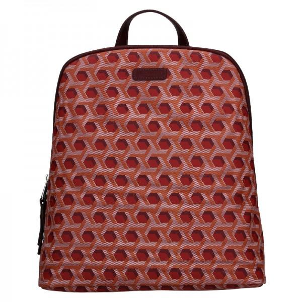 Trendy dámský batoh Hexagona Asia - tmavě červená
