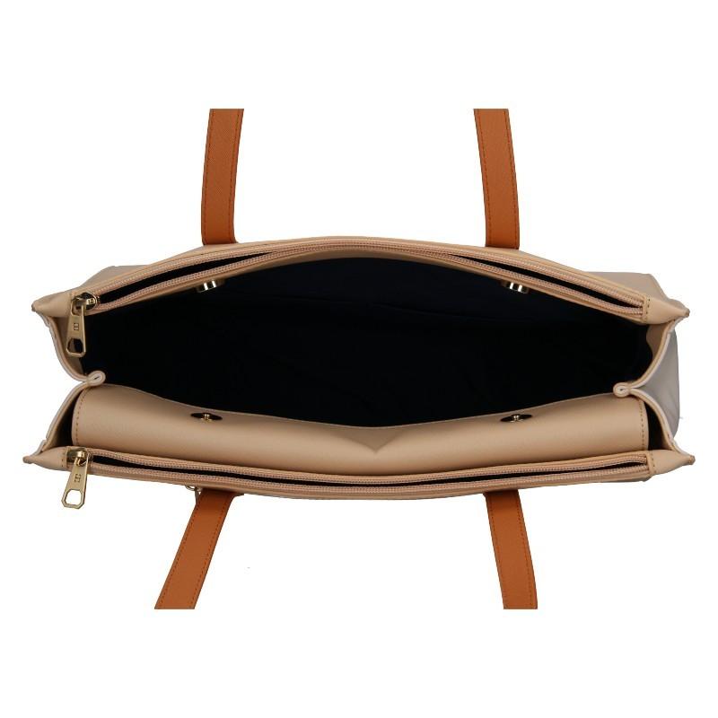Dámská kabelka Hexagona Danuta - růžovo-hnědá