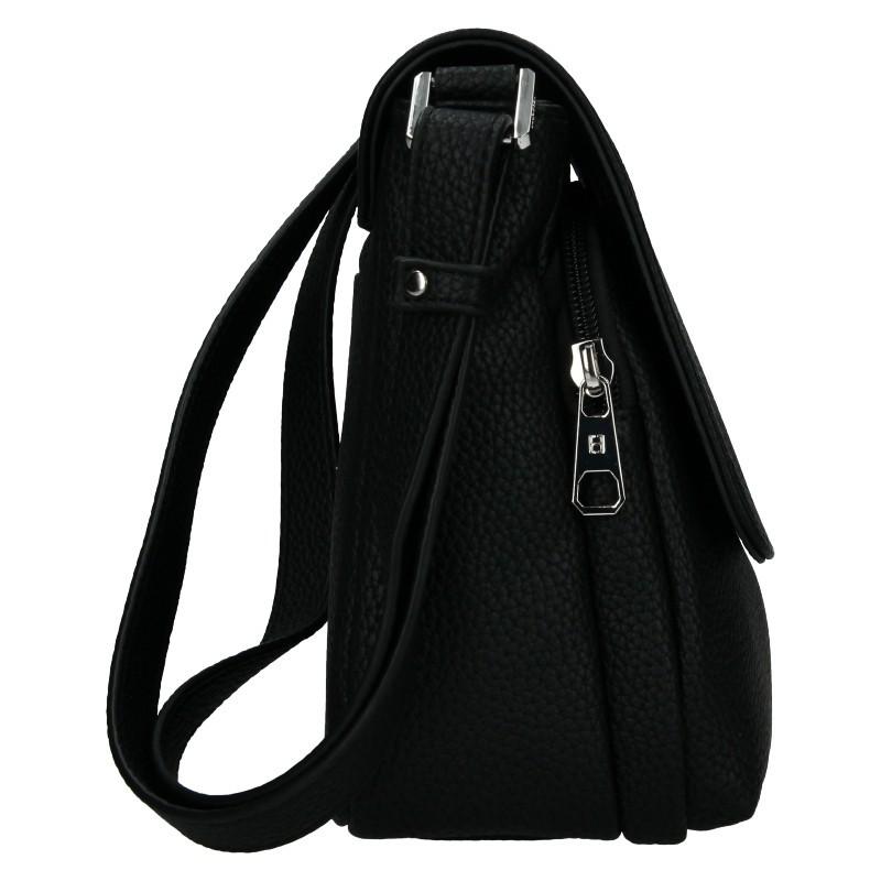 Dámská crossbody kabelka Hexagona Eligia - černá