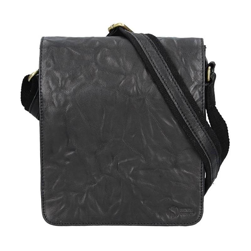 Pánská kožená taška přes rameno SendiDesign Mattia - černá
