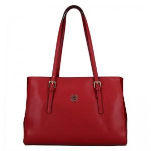 Dámská kožená kabelka Marina Galanti Chiara - červená