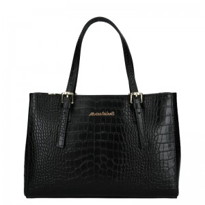 Dámská kožená kabelka Marina Galanti Federica - černá