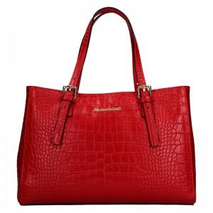 Dámská kožená kabelka Marina Galanti Federica - červená