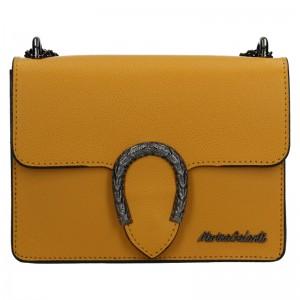 Dámská kožená crossbody kabelka Marina Galanti Arianne - žlutá