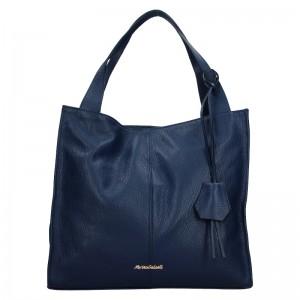Dámská kožená kabelka Marina Galanti Apolene - modrá
