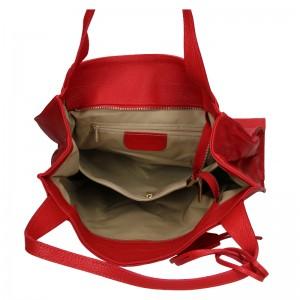 Dámská kožená kabelka Marina Galanti Apolene - červená