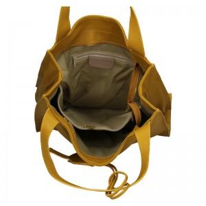 Dámská kožená kabelka Marina Galanti Apolene - žlutá