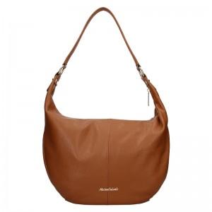 Dámská kožená kabelka Marina Galanti Simonia - hnědá