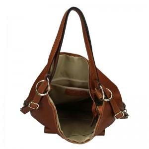 Dámská kožená kabelka/batoh Marina Galanti Alice - hnědá