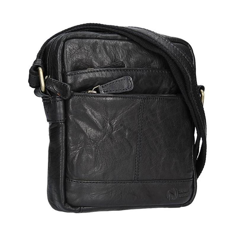 Pánská kožená taška na doklady SendiDesign Daniele - černá