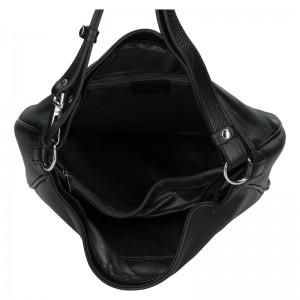 Elegantní dámská kožená kabelka Katana Jindra - černá