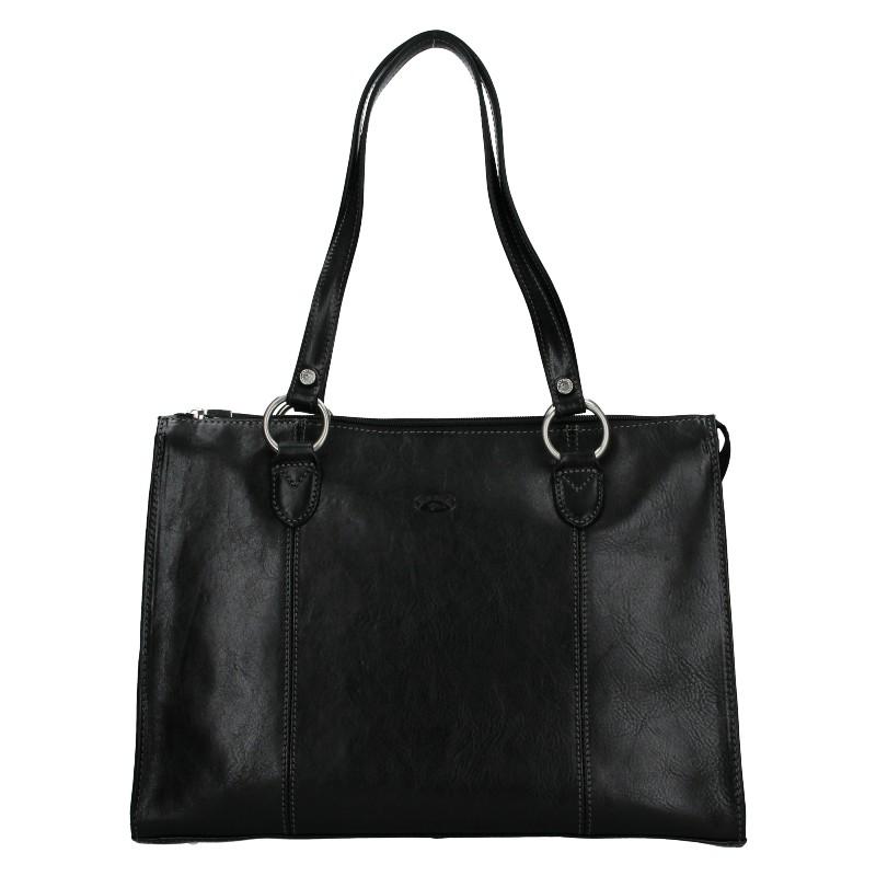 Elegantní dámská kožená kabelka Katana Jarusk - černá