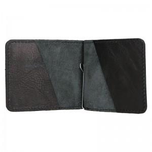 Pánská kožená dolarovka Facebag - černá
