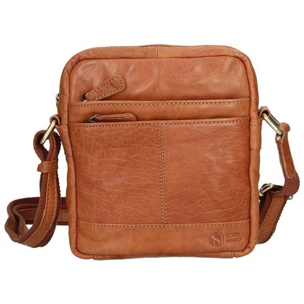 Pánská kožená taška na doklady SendiDesign Daniele - světle hnědá