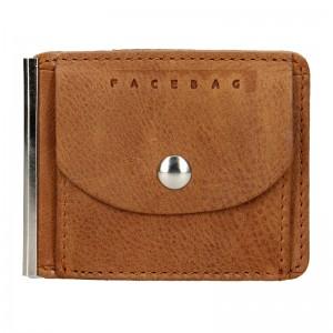 Pánská kožená dolarovka Facebag - koňak