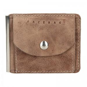 Pánská kožená dolarovka Facebag - hnedá