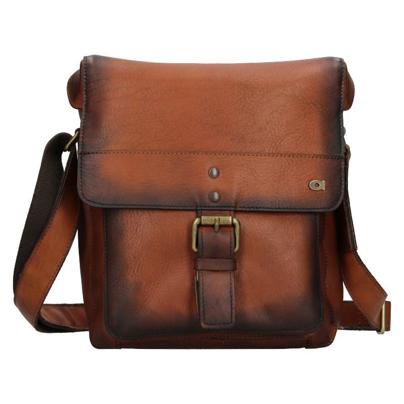 Luxusní pánská kožená taška Daag ALIVE 14 - hnědá