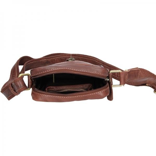 Pánská kožená taška přes rameno SendiDesign Pietro - tmavě hnědá