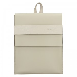 Dámský kožený batoh Facebag Apolens - béžová