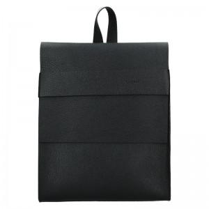 Dámský kožený batoh Facebag Apolens - černá