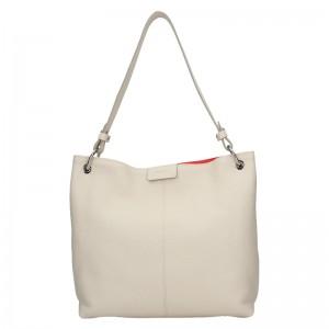 Dámská kožená kabelka Facebag Lilles - béžová
