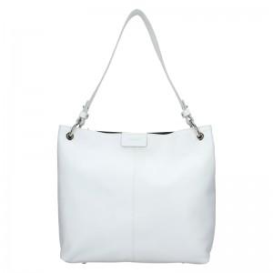 Dámská kožená kabelka Facebag Lilles - bílá