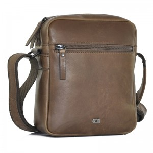 Pánská kožená taška Daag Peter - tmavě hnědá